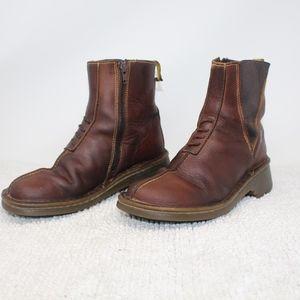 Dr Martens Vintage Brown Autumn ankle Boots Zip 7